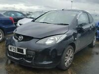 2009 MAZDA 2 TS BLACK 1.4 PETROL 3 DOOR DAMAGED SALVAGE REPAIRABLE CAT C
