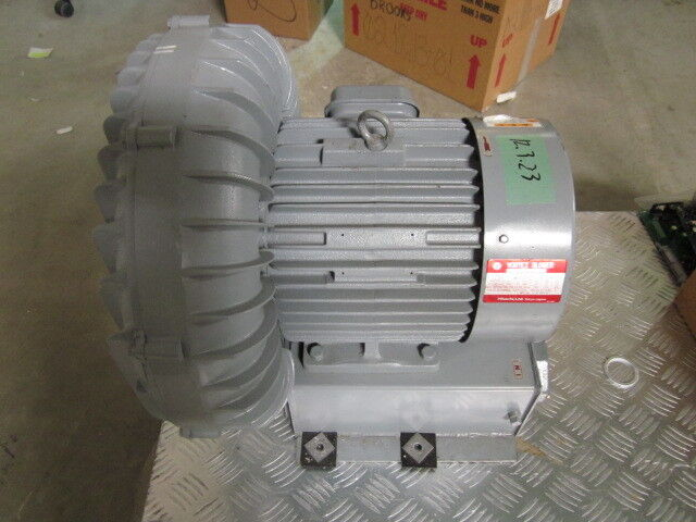 Hitachi Vb-060-e Vortex Blower, 3-phase, 2-pole; 50hz, 3.8kw, 200v, 14.5a, 1950m