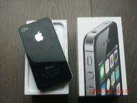 Apple iphone 4s, used with box.