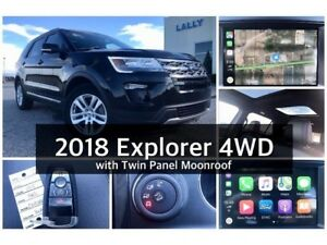 2018 Ford Explorer XLT 4WD with dual panel roof