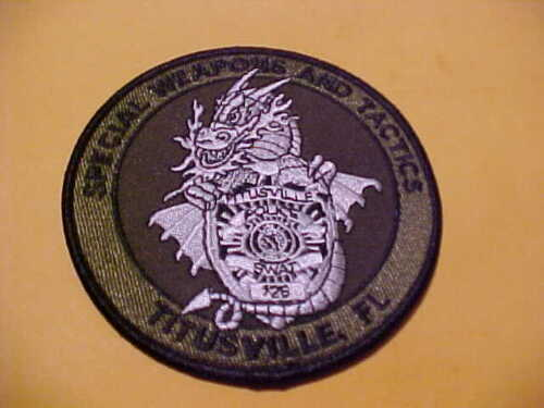 TITUSVILLE FLORIDA S.W.A.T.  POLICE PATCH SHOULDER SIZE UNUSED 4 X 4