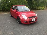 2008 SUZUKI SWIFT VVTI GLX RED PETROL 69,000 MILES SPORT ALLOYS MOT ONE YEAR £2995 OLDMELDRUM