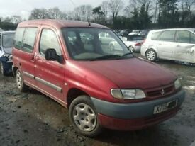CITROEN BERLINGO 2001 RED 5DR BREAKING FOR SPARES