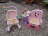 Fisher Price Laugh & Learn Musical Chair and Stroll & Play Walker