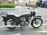 Royal Enfield Bullet 350 Single, Black, Many New Parts, Good Condition