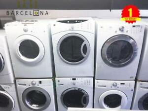 "SAVINGS BLOW OUT 27"" WASHER AND DRYER. 1 YEAR WARRANTY"