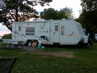 2005 Jay Feather trailer 25 feet with slide out.