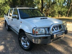 2009 Nissan Navara D22 MY08 ST-R (4x4) White 5 Speed Manual Dual Cab Pick-up Coonamble Coonamble Area Preview