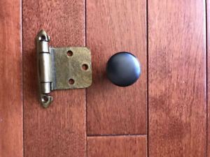Kitchen cupboard knobs and hinges