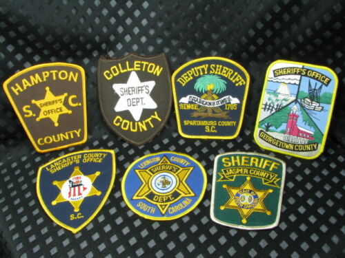 713cs South Carolina SHERIFF and POLICE DEPARTMENT  ~ 7pc Patch LOT