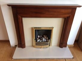Gas Fire (Mains Gas) and surround for sale