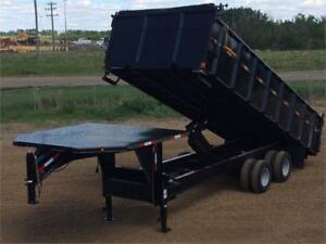 "2018 Double A, 102"" x 22FT Gooseneck Dump Trailer (22,000LB GVW)"