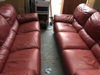 THREE AND TWO SEATER ELECTRIC RECLINERS, JUST £50