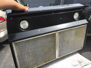"""Nice 30"""" Electric Black Over the range hood Only 2 yr"""