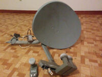 Satellite Dish [23 wide | 18 tall] with 3 LNBs