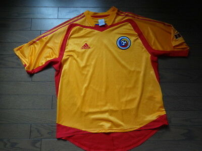 SALE!! Romania 100% Original Soccer Football Jersey Shirt L 2004/05 Home USED image
