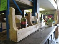 Handmade Wine Rack.