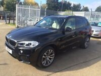 2014 BMW X5 3.0D M SPORT 7 SEATER, 360 CAM, HEADS UP, BLACK, CREAM LEATHER, ALLOYS, SERVICE PACK