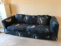 Large 3 seater sofa with or without cover