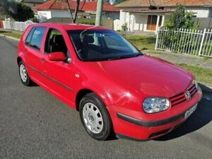 2001 Volkswagen Golf GL Red 4 Speed Automatic Hatchback Lidcombe Auburn Area Preview