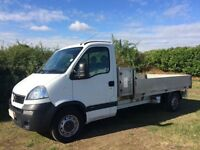 VAUXHALL MOVANO LWB 2.5 DIESEL DROPSIDE TRUCK 2009 09REG ONLY 80,000 MILES WITH FULL SERVICE HISTORY