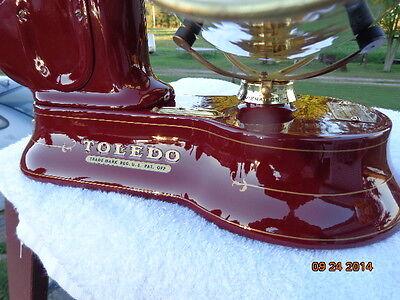 Custom restored Antique cast iron Toledo candy/ mercantile scales