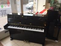 Weber Upright Piano - Polished Black