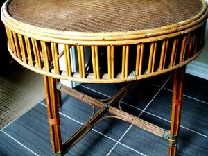 """late 1800s-early 19 Victorian 30"""" PARLOUR TABLE Wicker Seagrass Cambridge Kitchener Area image 3"""
