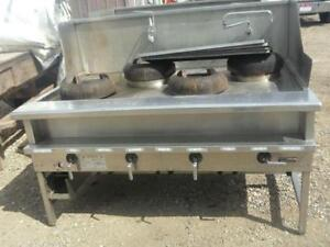 Gas Fired 4 Wok Burner Assembly $600.00 Each