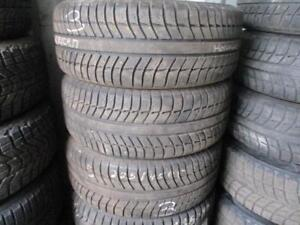 225/45 R17 MICHELIN PRIMACY ALPIN USED WINTER TIRES ON MERCEDES RIMS USED SNOW TIRES (SET OF 4) - APPROX. 85% TREAD