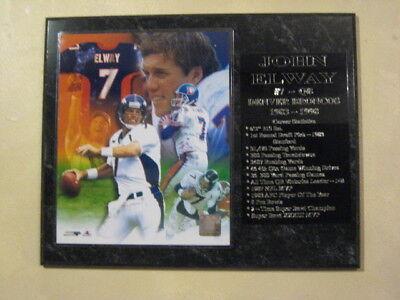 John Elway Denver Broncos statistics plaque - New Lower Pricing!!