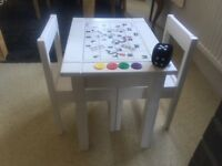Unique Children's Table & Chairs - hand painted Snakes & Ladders play table for under 5s