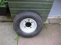 """trailer wheel and tyre 8"""" 4 1/2"""" pcd"""