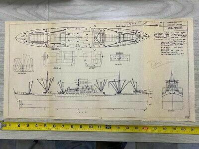 Blueprint Style World War 2 German Submarine 12 tall x 27 wide Art Print