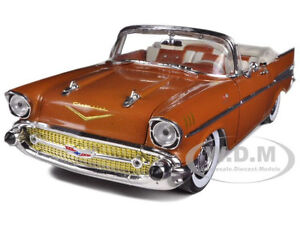 1957 CHEVROLET BEL AIR CONVERTIBLE SIERRA GOLD 1/24 BY M2 MACHINES 40300-35A