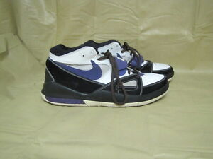 100% ORIGINAL RARE NIKE AIR ALPHOLUTION  IN BLACK AND PURPLE