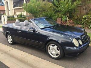 2000 Mercedes-Benz CLK320 A208 Elegance Blue 5 Speed Automatic Cabriolet Croydon Burwood Area Preview