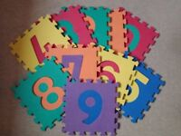 Numbers Floor Mat Baby Jigsaw Play Mat Soft Foam Large Tiles