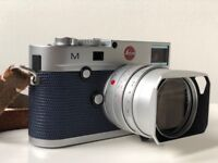 Leica M M240 M Type 240 Silver Chrome Immaculate Boxed Spare Battery Blue Skin