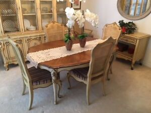Antique Dining table with six chairs