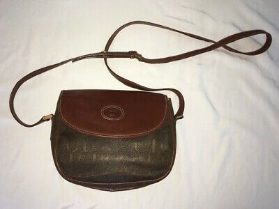 Gucci Vintage Brown Crossbody Bag W/Gucci Pattern (Good Condition)