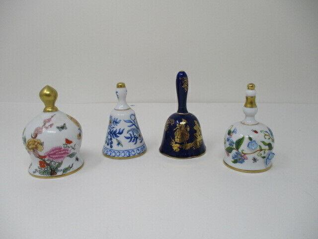 Lot of 4 Franklin Mint Bells