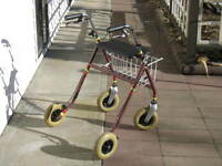 Affordable JUMBO WHEELED Rollator Walker For Sale