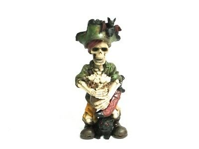 - Pirate Standing Skeleton w/ Bag Bones Sword Fish Tank Aquarium Skull Decoration