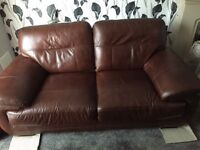 Sofa For Sale - Leather - Dark Brown - Good Condition - Irvine - Pick up only