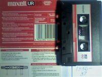 JL UK RARITY MAXELL UR 60 90 120 CASSETTE TAPES 1986-1987 UR60 UR9O UR120 JOB LOT OR SOLO
