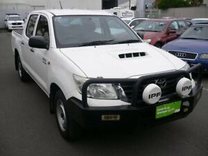 2013 Toyota Hilux KUN16R MY12 SR Double Cab 4x2 White 5 Speed Manual Utility Melrose Park Mitcham Area Preview