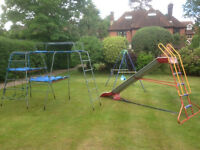 Used TP climbing frame with two platforms, slide and swing.