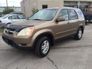 2002 Honda CRV AWD Comes Safety And E-Tested
