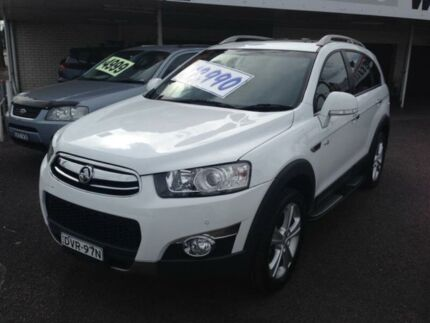 2013 Holden Captiva CG MY13 7 LX (4x4) White 6 Speed Automatic Wagon Broadmeadow Newcastle Area Preview